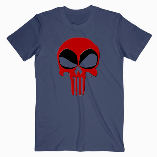 Deadpool Punisher Skull T shirt