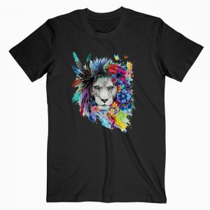 Lion Art Face T shirt